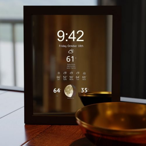 Smart Mirror with Clock Display