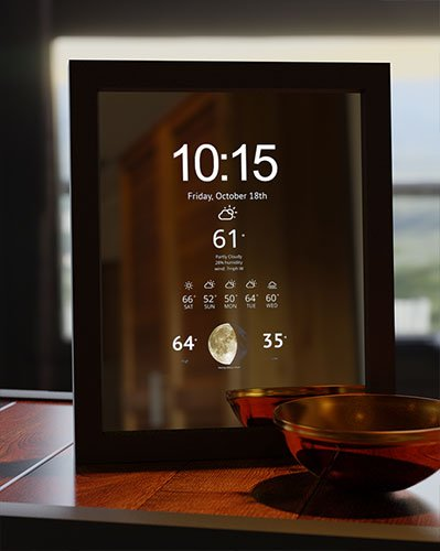 8x10 Smart Mirror for Sale with Weather Time and Moon