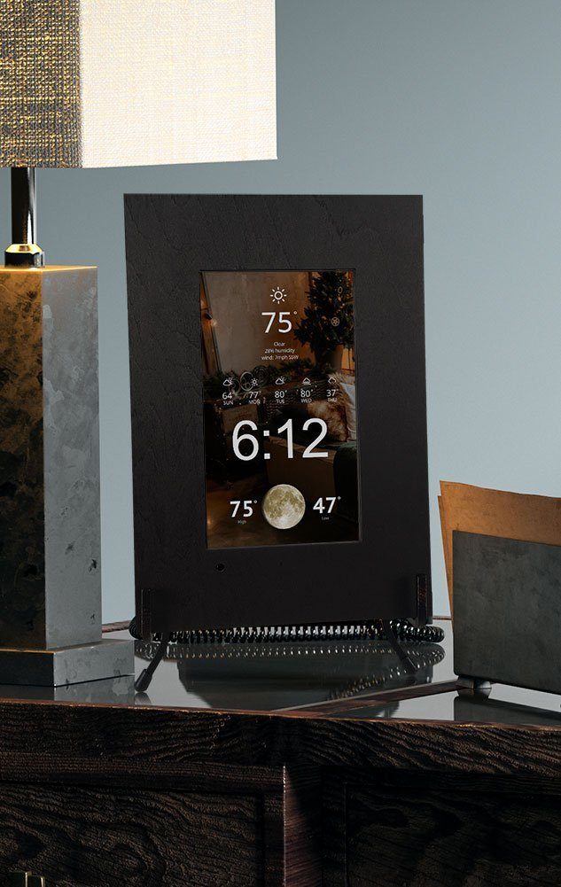 Smart Mirror Display Time Local Weather Current Moon Phase