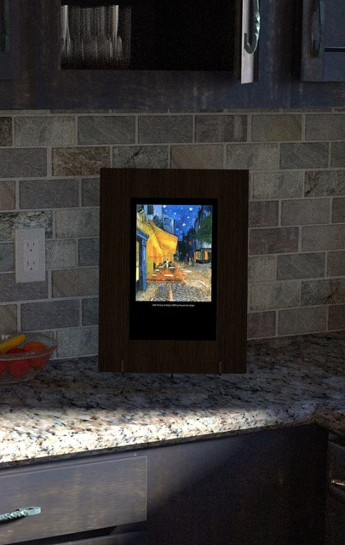 5x8 Smart Mirror with Van Gogh Painting in Kitchen