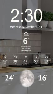 Smart Mirror with Weather Display and Moon Phase Calendar
