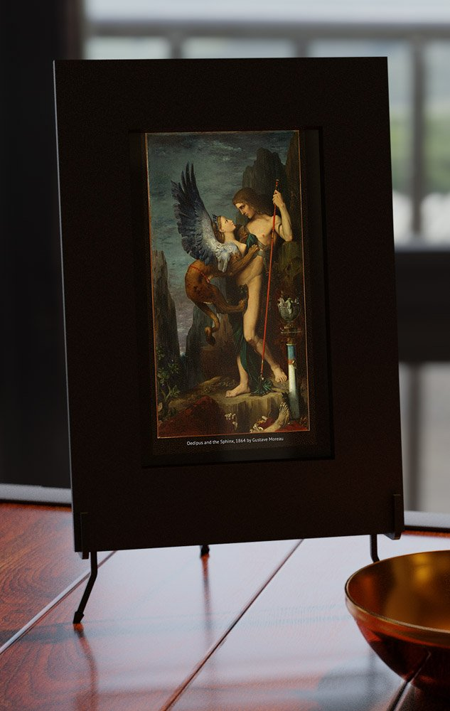smart mirror with Oedipus and the Sphinx by Gustave Moreau