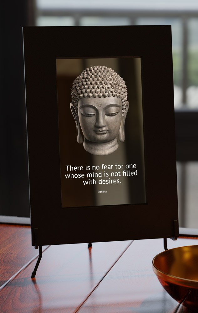 Smart Mirror with Buddhist Display