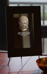 Smart mirror with buddhist teachings